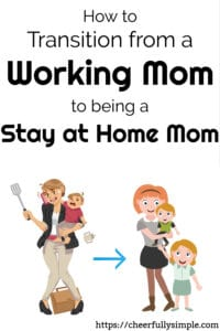 transitioning to stay at home mom 1