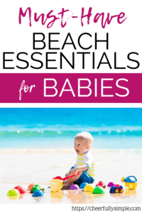 must-have beach essentials for babies pin
