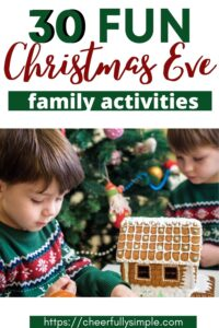 fun Christmas Eve activities for families Pinterest pin