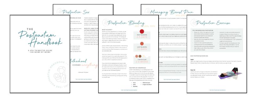 postpartum handbook graphic