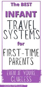 pinterest pin for best baby travel system for first time parents