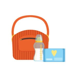 breast milk cooler bag with breast milk