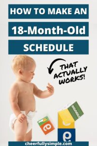 how to make a schedule for an 18 month old pinterest pin