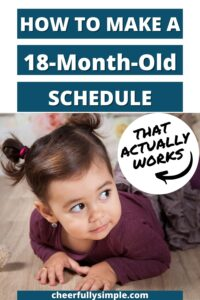 what to put in an 18 month old schedule pinterest pin