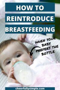 bottle feeding to breastfeeding pinterest pin