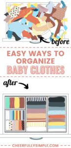 how to organize baby clothes pinterest pin