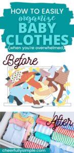 baby clothes organization tips pinterest pin