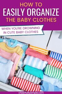 organizing baby clothes pinterest pin