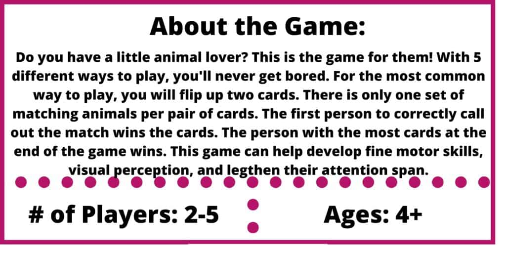 spot it jr animals game review