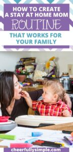how to create a stay at home mom schedule pinterest pin