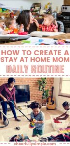 stay at home mom routine pinterest pin