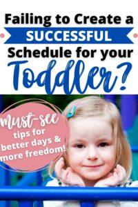 three year old schedule pinterest pin