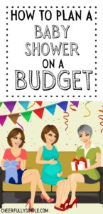 how to plan a budget friendly baby shower pinterest pin
