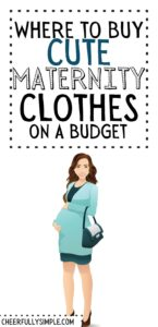 cheap maternity clothes on a budget pinterest pin