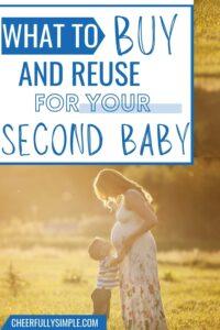 second baby registry checklist pinterest pin