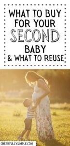 2nd baby registry checklist pinterest pin