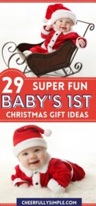 baby's first Christmas pinterest pin