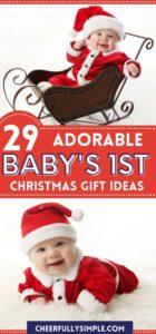 babys first Christmas pinterest pin