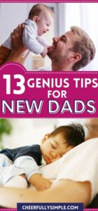 tips for a new dad pinterest pin