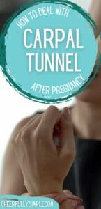 carpal tunnel after pregnancy pinterest pin