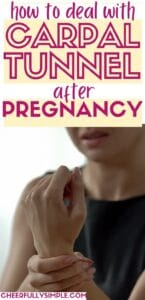 tips for carpal tunnel after pregnancy pinterest pin