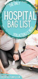 hospital bag checklist for mom pinterest pin