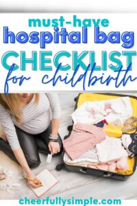 what to pack in your hospital bag pinterest pin