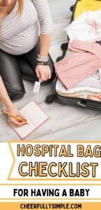 hospital bag checklist for first time moms pinterest pin
