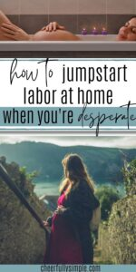 ways to induce labor at home pinterest pin