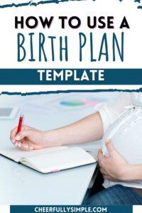 the best birth plan template pinterest pin