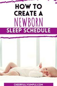 benefits or a newborn sleep schedule pinterest pin