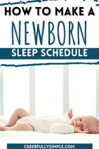how to create a newborn sleep routine pinterest pin