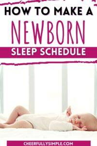 how to create a newborn sleep schedule pinterest pin